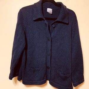 Chico's size 3(xl) navy heavy cardigan